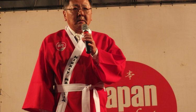 Leonardo Sasazaki, presidente da festa (Aldo Shiguti)