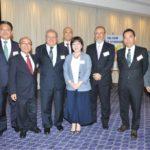 Hitomi, Paolinelli e autoridades com diretoria da CCIJB (Jiro Mochizuki)
