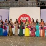 Todas as 15 candidatas ao concurso Miss Nikkey Marília e Região (Divulgação)