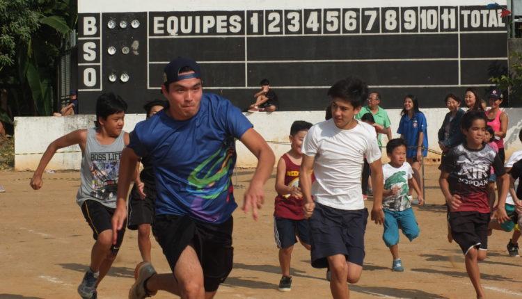 A tradicional prova da corrida dos 100 metros (Aldo Shiguti)
