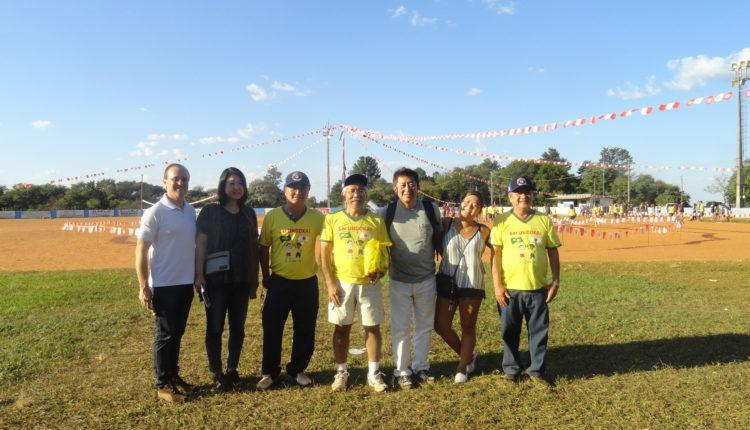 Luiz Bernadoni, Kaoru Aoki, Beto Tukasan, Keniti Mizuno, Takaaki Aoki, Hikari Aoki e Carlos Saito