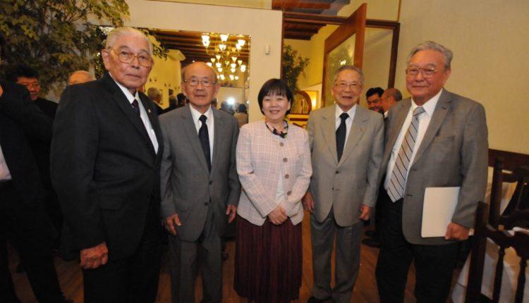 Reimei Yoshioka, Koitiro Hama, Tadayoshi Wada e Kazuo Watanabe (a partir da esquerda) (Jiro Mochizuki)