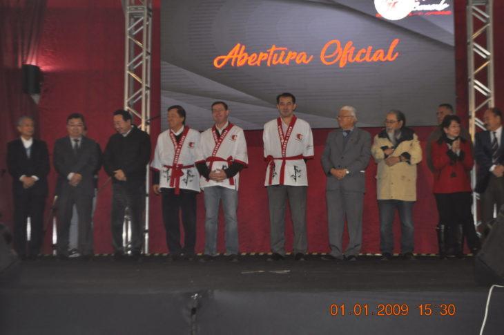 Cerimônia de abertura contou com a presença do cônsul geral do Japão em São Paulo e do prefeito (Cíntia Yamashiro)