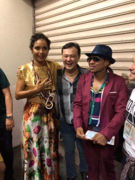 Joe Hirata com a cantora Carla Vizi e Robertinho Casanova (Arquivo pessoal)