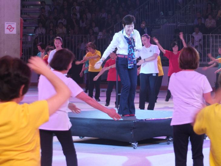 A cantora Mariko Nakahira na Arena 110 do Festival do Japão (Aldo Shiguti)