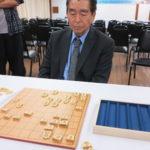 Presidente Yoshida durante a final
