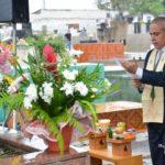 Cerimônia inter-religiosa no monumento das almas