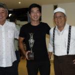 Pedro Nagayama com o pai e o avô (Thais Pastor/F2 Comunicação)