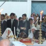 Cônsul Kenji Iwashima e embaixador Akira Yamada (ao fundo) (Aldo Shiguti)