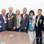Gilson Fantin com a comitiva japonesa (Fotos: Wagner Assanuma e Prefeitura de Registro)