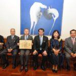 Misao Adachi com o cônsul, familiares e amigos (Jiro Mochizuki)