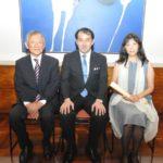 Akio Ogawa, cônsul Noguchi e Tamiko Hosokawa (Jiro Mochizuki)