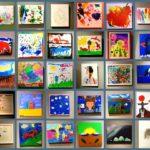 Obras de crianças por ordem de idade (Montagem Teruko)