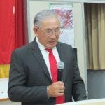 Fumio Horii durante seu discurso (Aldo Shiguti)
