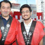 Cônsul também posou ao lado do único deputado federal nikkei eleito em SP - Jiro Mochizuki