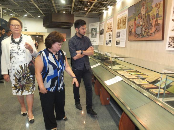 Harumi Goya acompanhou a visita - Aldo Shiguti