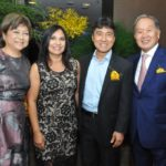 Renato Ishikawa e Olga com o casal de amigos, deputado Hélio Nishimoto e sua esposa, Edneia (Jiro Mochizuki)