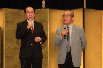 Yuji Ikuta e o presidente da Associação das Províncias do Japão do Norte do Brasil, Shihei Takeda - Carlos Sodre-Agencia Pará