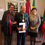 """Lançamento de """"Juristas do Mundo""""e condecoração com a medalha de Mérito Jurídico Imperador Augustus (divulgação)"""