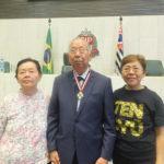 Pedro Yano com a esposa, Katsuki, e a filha, Nair - Aldo Shiguti