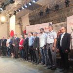 Autoridades perfiladas para os hinos nacionais (Aldo Shiguti)