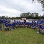 Akira Yamada, diretores e convidados com jogadores de beisebol