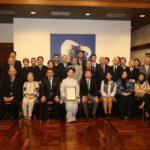 A chef Telma Shiraishi com a família, o cônsul e convidados (Jiro Mochizuki)
