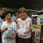 Kinuko Hayashi (direita), de Guatapará, de 77 anos campeã Cat Sup Ext A (Silvio Sano)