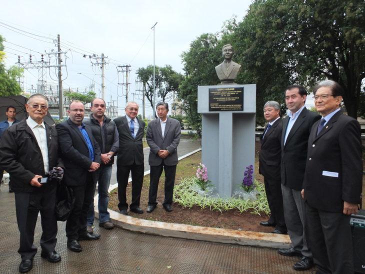 Inauguração do novo busto contou com a participação do cônsul geral do Japão em São Paulo (Aldo Shiguti)