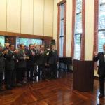 Presidente do Bunkyo, Renato Ishikawa comandou o brinde (Jiro Mochizuki)